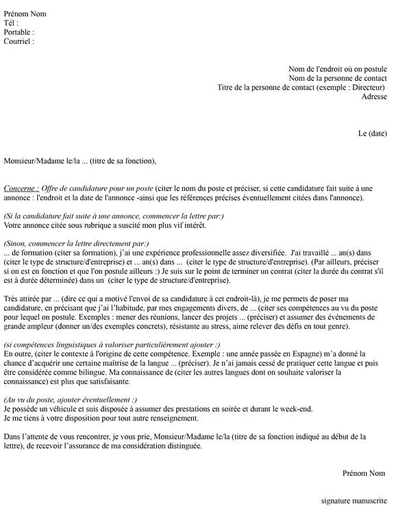 exemple lettre de demission contrat interim