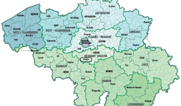 Carte Belgique Communautes Et Regions.Organisation De L Etat