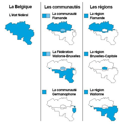 en bref carte federalisme