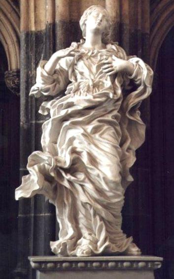 17e siecle-sculpture-jean delcour vierge
