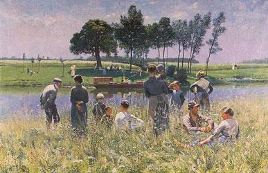 peinture-impressionnisme-Emile Claus - Picknick
