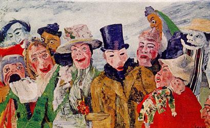 peinture-inclassable-ensor masques