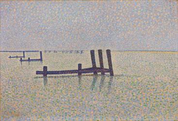 peinture-neoimpression-Alfred-William-Finch---The-Channel-at-Nieuport