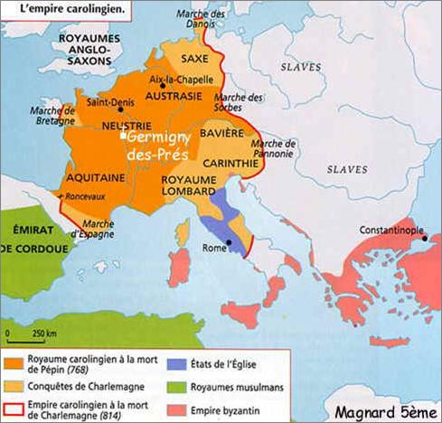 34.moyen-age-carte empire carolingien