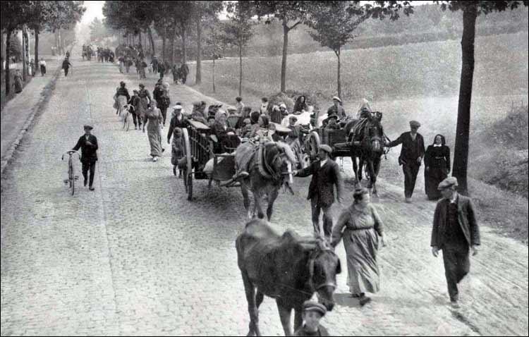 Belgian refugees 1914