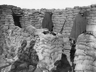 Dans les tranchees hiver 1915-1916